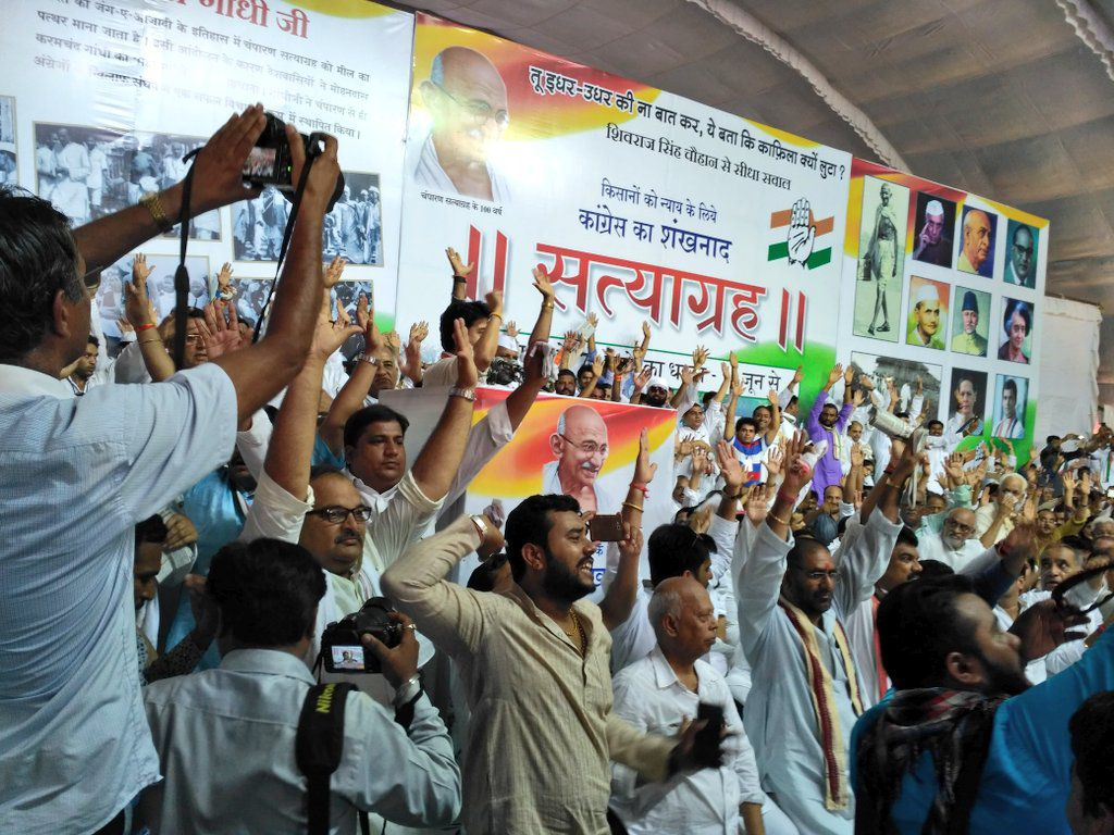 Three-day satyagraha in Bhopal to protest government shooting of six farmers in Mandsaur on June 6, 2018